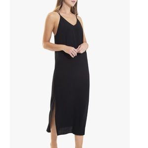 Joe's Strappy Side Slits Slip Dress - Gray